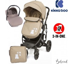 Kika Boo - Beloved 3 en 1 Beige (chassis preto)