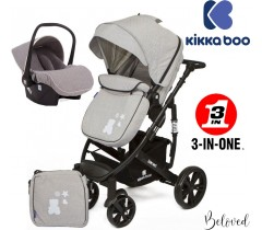Kikka Boo - Beloved 3 en 1 Gris (Chassis preto)
