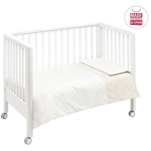 Cambrass capa cama de grades beige star for Cama 60x120