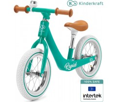 Kinderkraft - Bicicleta sem pedais RAPIDE Magic Coral Midnight Green