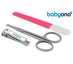 Baby Ono - Conjunto de unhas de bebé rosa