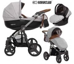 BabyActive - Carrinho de bebé 3 in 1 Mommy Gray Star