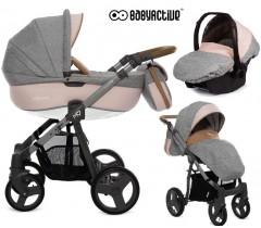BabyActive - Carrinho de bebé 3 in 1 Mommy Pinky
