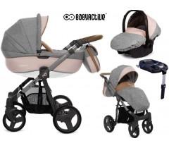 BabyActive - Carrinho de bebé 4 in 1 Mommy Pinky