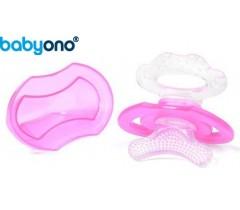 Baby Ono - mordedor em silicone rosa