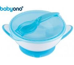 Baby Ono - Taça com ventosa e colher azul