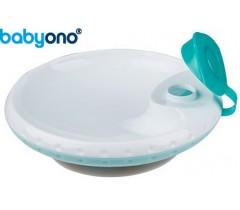 Baby Ono - Taça com ventosa para manter temperatura dos alimentos azul