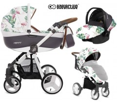 BabyActive - Carrinho de bebé 3 in 1 Mommy Primavera/Verão Flamingo