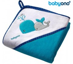 Baby Ono - Toalha de veludo com capuz 76x76 Azul