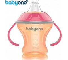 Baby Ono - Copo anti-derramamento com bico rígido 180ml Laranja