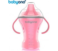 Baby Ono - Copo anti-derramamento com bico rígido 260ml rosa