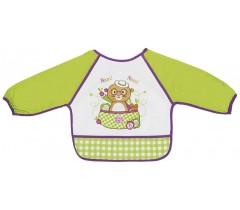 Saro - Babetes com mangas e bolsa Mga. Verde/roxo