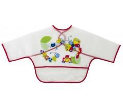 Saro - Babete com mangas e bolsa Vermelho