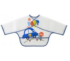 Saro - Babete com mangas e bolsa Azul
