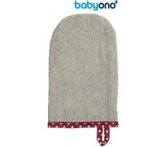 Baby Ono - Luva de lavagem de bebé cinza