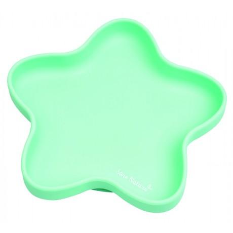Saro - Prato de silicone Star Hortelã