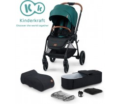 Kinderkraft - Carrinho de bebé EVOLUTION COCOON 2 in 1 midnight green