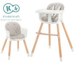 Kinderkraft - Cadeira da papa Sienna grey