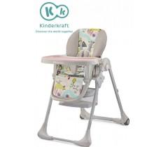 Kinderkraft - Cadeira da papa TASTEE pink leaf