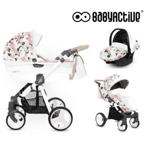 BabyActive - Carrinho de bebé 3 in 1 Mommy Primavera/Verão Peony