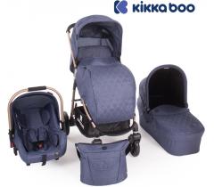 Kikka Boo - Trinity 3 in 1 Blue Melange Golden frame