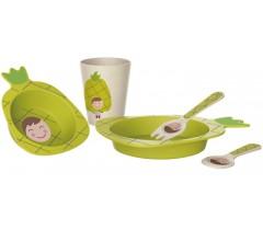 Walking Mum - Conjunto de louça abacaxi (5 peças)