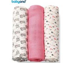Baby Ono - Fraldas de fibra de bambu orgânico natural rosa