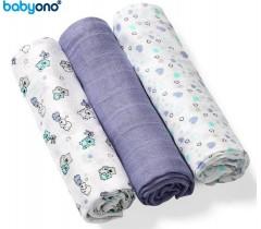 Baby Ono - Fraldas de fibra de bambu orgânico natural azul