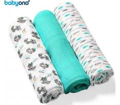 Baby Ono - Fraldas de fibra de bambu orgânico natural verde