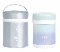 Saro - Recipiente Termo de aço com estojo Galaxy Hortelã-azul