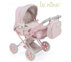 La Nina - BABY COCK COM RODAS ROSA PEQUENA RODAS (37X65X44 CM)