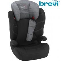 Brevi - Cadeira auto Grupo 2/3 (15-36 kg) NIGEL Cinza Melange