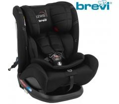 Brevi - Cadeira auto Grupo 0+/1/2/3 (0-36 kg) LEWIS Isofix TT Total Black