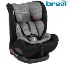 Brevi - Cadeira auto Grupo 0+/1/2/3 (0-36 kg) LEWIS Isofix TT Cinza Melange