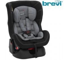 Brevi - Cadeira auto Grupo 0+/1 (0-18 kg) KEKE Cinza Melange