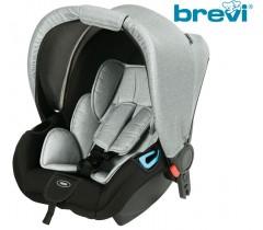 Brevi - Cadeira auto Grupo 0+ (0-13 Kg) ADON Silver Grey