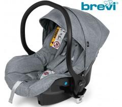 Brevi - Cadeira auto Grupo 0+ (0-13 kg) Smart Cinza Melange Claro