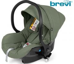 Brevi - Cadeira auto Grupo 0+ (0-13 kg) Smart Verde Salvia