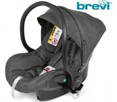 Brevi - Cadeira auto Grupo 0+ (0-13 kg) Smart Cinza Melange Escuro