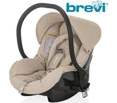 Brevi - Cadeira auto Grupo 0+ (0-13 kg) OVO TWIN Tortora