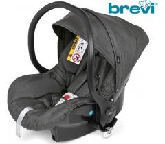 Brevi - Cadeira auto Grupo 0+ (0-13 kg) Smart Cinza P/MARATHON