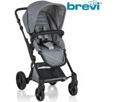 Brevi - Cadeira de Rua PRESTO CITY Cinza Melange Claro (chassis preto)