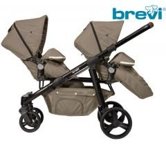 Brevi - Cadeira de gémeos OVO TWIN Tortora 2020