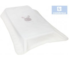 CAMBRASS - COBERTOR BORDADO 80x110 CM LITTLE ROSA