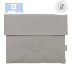 CAMBRASS - PORTA DOCUMENTOS CINZA 3x17x25 CM