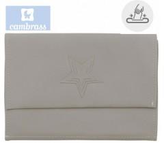 CAMBRASS - PORTA TOALHITAS CINZA 13x22 CM