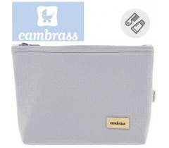 CAMBRASS - NECESSAIRE CINZA LUXUOSO 6x28x20 CM