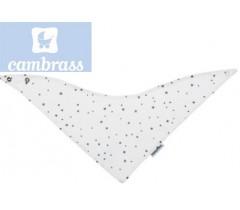 CAMBRASS - BANDANA ASTRA CINZA / ESTRELA BABETE 38x18 CM