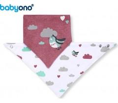 """Baby Ono - Babete """"Bandana""""  pássaros"""