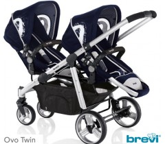 Brevi - Carrinho para gémeos, Ovo Twin